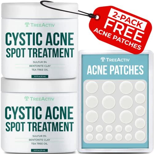 TreeActiv Cystic Acne Spot Treatment | Sulfur 3% & Tea Tree Oil...