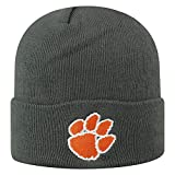 Top of the World Clemson Tigers Men's Cuffed Knit Hat Charcoal Icon, One Fit