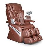 Cozzia EC366 Leather Shiatsu Spa Massage Chair - Brown