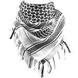 FREE SOLDIER 100% algodón Militar táctica Shemagh Desierto Keffiyeh Bufanda Wrap para Hombres y Mujeres (Blanco)