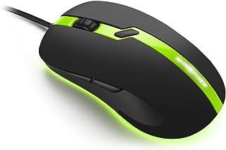 SHARKOON Yüksek hassasiyet,Eşsiz tasarım Optik Mouse SHARKFORCEPROGREEN