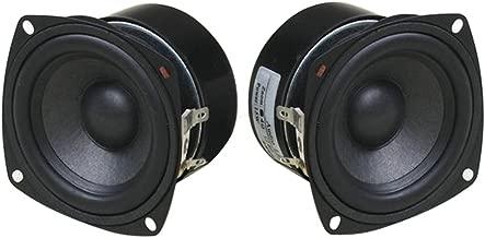 3 Inch 4Ohm Full Range Loudspeaker 5-15W, Yeeco Antimagnetic Stereo Audio Speaker 88dB HiFi Full-ranged Bookshelf Speaker for Car Audio DIY Bluetooth Speakers Tweeters, Pack of 2