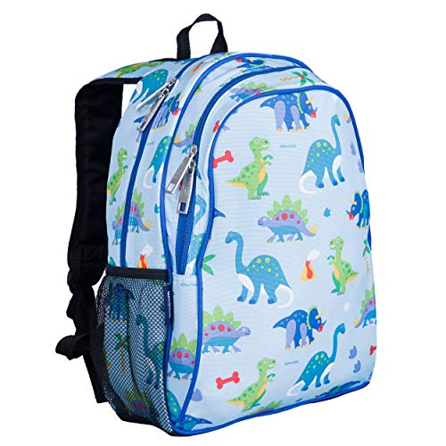Wildkin Kids 15 Inch Backpack for Boys and Girls, Perfect Size for Preschool, Kindergarten and Elementary School, 600-Denier Polyester Fabric Backpacks, BPA-free, Olive Kids (Dinosaur Land)