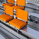 EMMA + OLIVER Set of 2 500 lb. Rated Lightweight Stadium Chair with Ultra-Padded Seat, Orange