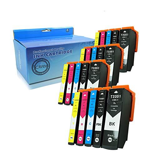 Caidi 20 x Grande Capacité Compatibles Epson 33 33XL Cartouches d'encre pour Epson Expression Premium XP-530 XP-540 XP-630 XP-635 XP-640 XP-645 XP-830 XP-900