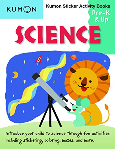 Kumon Pre K & Up Science Sticker Activity Book