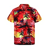 N\P Camisa de playa de verano para hombre