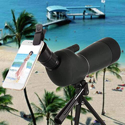 Spotting Scope Telescope Camera Phone Single Tube High-Power High-Definition Night Vision 20-60x60 Zoom Spotting Scope Outdoor Outdoors JIAJIAFUDR