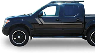 Bubbles Designs Decal Graphic Vinyl Side Racing Stripes Compatible with Nissan Frontier Navara 2004-2015 (Silver)