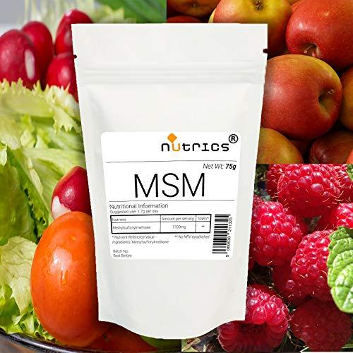 Nutrics 100% Pure Organic Sulfur MSM Methylsulfonylmethane 200g Vegan Powder