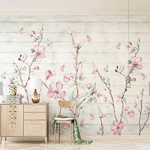 LIVEXZ DIY Murals Wallpaper Decoration 3D Modern Living child Bedroom  Vintage Wallpaper Multi Pattern Wall Panels Stickers/Colorful Sakura
