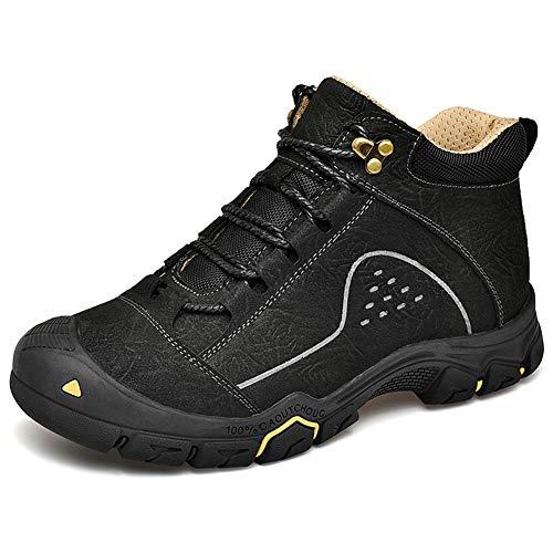 HSLiang Chaussures De Randonnée Anti-Glisse pour Homme - Automne Et Hiver Léger pour Le Trekking en Plein Air Chaussures De Marche Kaki, Marron, Noir