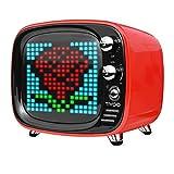 Divoom TIVOO レトロTV型モニター搭載 Bluetoothスピーカー [ レッド ]