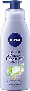 Nivea Oil-In-Lotion Tender Coconut and Tiare Oil Body Lotion for Normal Skin (400 ml)