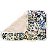 Premium Ironing Blanket Reversible Multipurpose Pad - Paris Postage/Natural