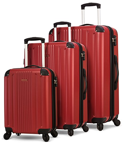 There are lots of shades of red, this hard shell set is a more crimson shade. Definitely worth a look and looks great