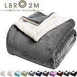 LBRO2M Sherpa Fleece Bed Blanket King Size Super Soft Fuzzy Plush Warm Cozy...