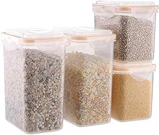 AWAING Bocaux Conteneurs de céréales en plastique transparent Cuisine Réfrigérateur Conteneur grain alimentaire scellé Boî...