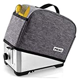 iFedio 2 Slice Toaster Cover with Two Pockets for Storing knife,Grey