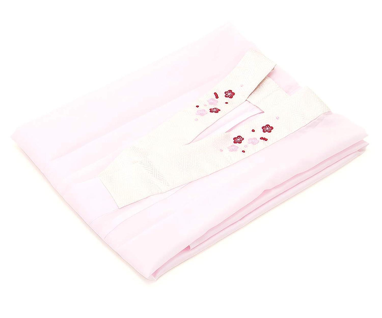 (ソウビエン) 二尺袖用長襦袢 薄ピンク 無地 シンプル 梅 刺繍半襟付 卒業式 袴用 洗える 仕立て上がり レディース