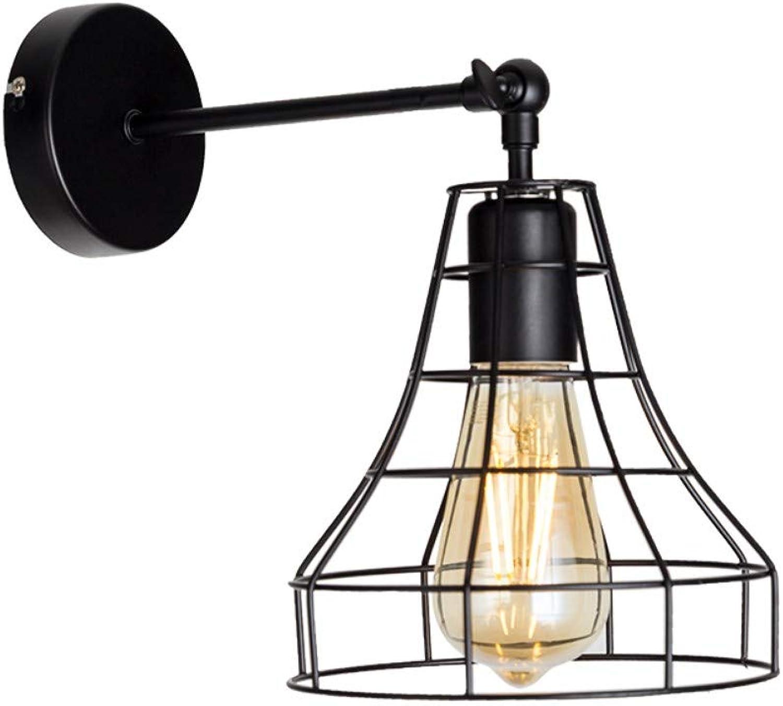 Retro wandleuchte Amerikanische E27 schmiedeeisen schwarze wandleuchte schlafzimmer bar licht innenleselampe