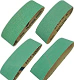 Sackorange 4 Pack 4 x 36 Inch Metal Grinding Zirconia Sanding Belts - 1 Pcs Each of 40 60 80 and 120 Grits Sanding Belt for Belt Sander (4 X 36 Inch)