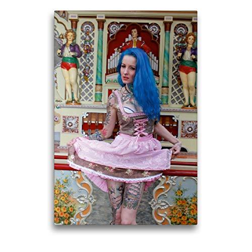 CALVENDO Premium Textil-Leinwand 50 x 75 cm Hoch-Format Dirndl Dream, Leinwanddruck von Andreas Comandante