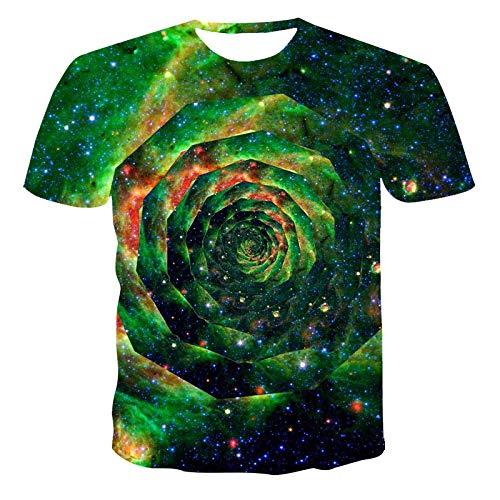 Camisetas Camiseta con Estampado 3D De Costura A La Moda Camiseta Estampada con Pintura Retro De Manga Corta para Hombre XXXL 60073