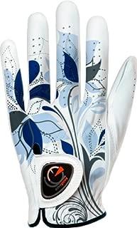 easyglove Spring_Flora-Blue-W Women's Golf Glove (White)