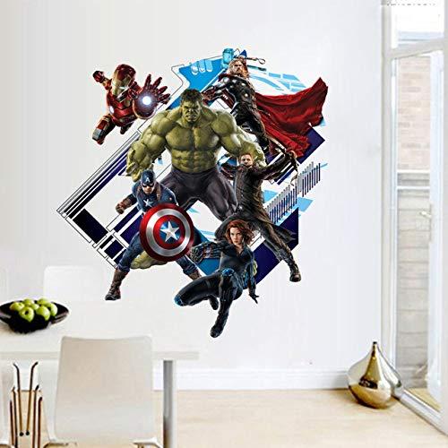 Super-héros Avengers Sticker Mural Chambre D'enfants Salle De Jeux Iron Man Infinity War Hulk Capitaine Batman Autocollant Mural Chambre Vinyle