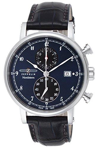 [ツェッペリン] 腕時計 Nordstern 7578-3 並行輸入品 ブラック [並行輸入品]