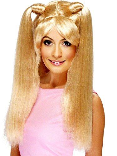 Perücke Baby 90er Jahre Ikone blonde Langahaarperücke mit Zöpfen für Damen Damenperücke sexy Langhaar Lang Haar