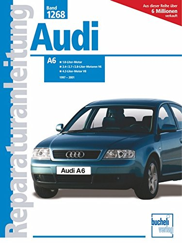 Audi A6: 1.8-Liter-Benzinmotoren, 4-Zylinder / 2.4-/2.7-/2.8-Liter-Benzinmotoren, V6 (ohne Vierradantrieb) (Reparaturanleitungen)