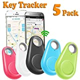 GBD 5 Pack Smart Finder Tracker Locator for Kids Boys Girls Pets Key Wallet Car Dog Cat Child Bag Phone Alarm Anti Lost Selfie Shutter Wireless Seeker Christmas Birthday Gifts