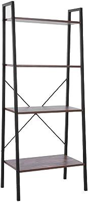 SOULONG - Estantería de Escalera, estantería Vintage de 4 estantes, Mueble de Almacenamiento de 4 Pisos, estantería de Escalera, para la casa, salón, Dormitorio, balcón: Amazon.es: Hogar
