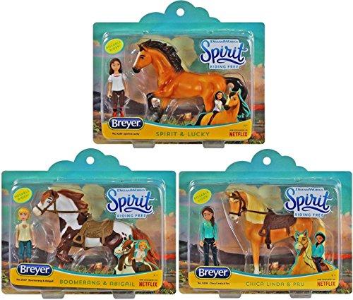 Spirit Breyer Riding Free Playsets Gift Bundle - Set of 3 Includes, Chica Linda & Boomerang!
