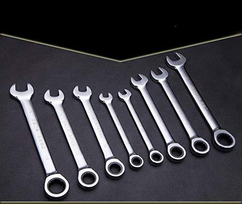 QMZJSP Schraubenschlüssel Hochwertige 72-Zahn-Ratsche mit metrischem Schlüssel, Gabelschlüssel und Ringschlüssel, Handwerkzeuge, Drehmomentschlüssel-Satz, 21 mm
