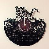 World Clock Gift Disney Wanduhr aus Vinyl, Motiv: Winnie The Pooh, für Kinderzimmer, Geschenkideen...