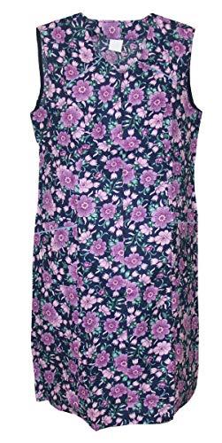 Reißverschluss Kittel RV Hauskleid Baumwolle Schürze, Größe:56, Modell:Modell 3