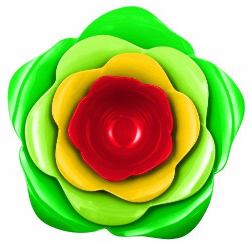 Zak Designs 2116-D840 Jardin Set de 4 Saladiers Emboitables Rose