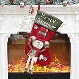 Los artículos de decoración de la media de Navidad se pueden utilizar para vestir colgantes de árbol de Navidad, bolsas de dulces de regalo para niños
