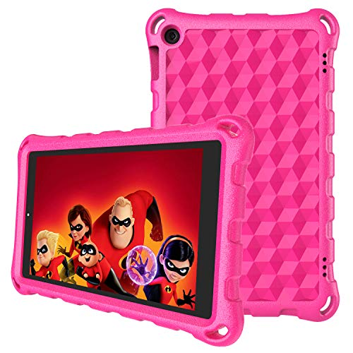 Amazon Fire 7 Case, Fire 7 Tablet Case for Kids-Auorld Light Weight Kids Shock Proof Cover for Fire 7 inch Tablet(Compatible with 9th/ 7th/ 5th Generation)(Rose)