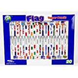 Flag 国旗付き鉛筆 2B 20本 ラグビーワールドカップ出場 全20か国