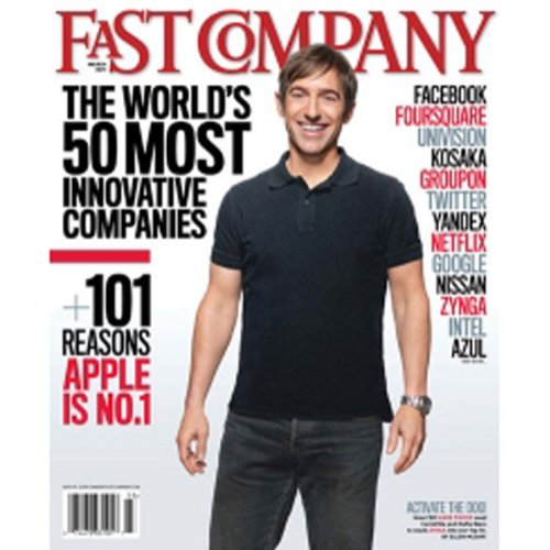 Audible Fast Company, March 2011 cover art