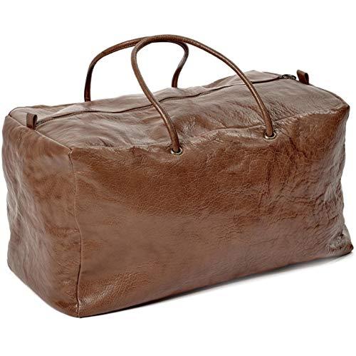 Bea Mombaers schoudertas, XL cognac - 46 x 26 x 22 cm