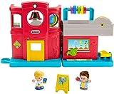 Little People- Fisher-Price Friendly School, Juego Musical para niños pequeños, Multicolor (Mattel GJC08)
