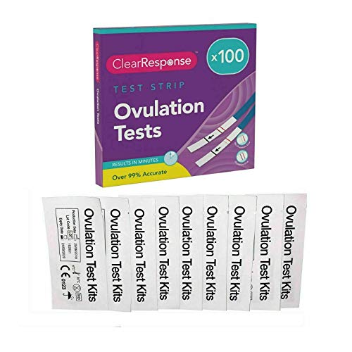 Ovulation Test Strips by Clear Response | 20mlU Ovulation Strips Test Kit | Sensitive Fertility Predictor Testing Sticks (50pk)