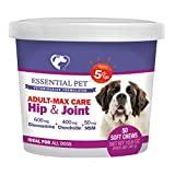 Essential Pet Products Adult-Dog Max Care Hip & Joint Support Soft Chew Age 5+ with 600mg Glucosamine, 400mg Chondroitin, MSM