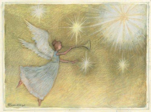 LANG 'Golden Angel', Classic Christmas Cards, Artwork by Susan Winget' - 12 cards, 13 envelopes - 4.5' x 6'