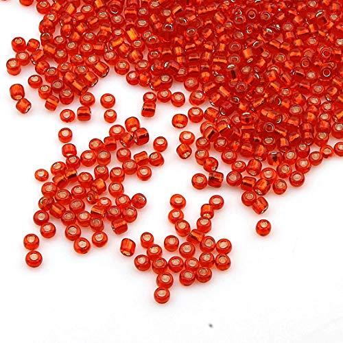 1100 unidades de cuentas de cristal de 4 mm, 6/0, perlas de...